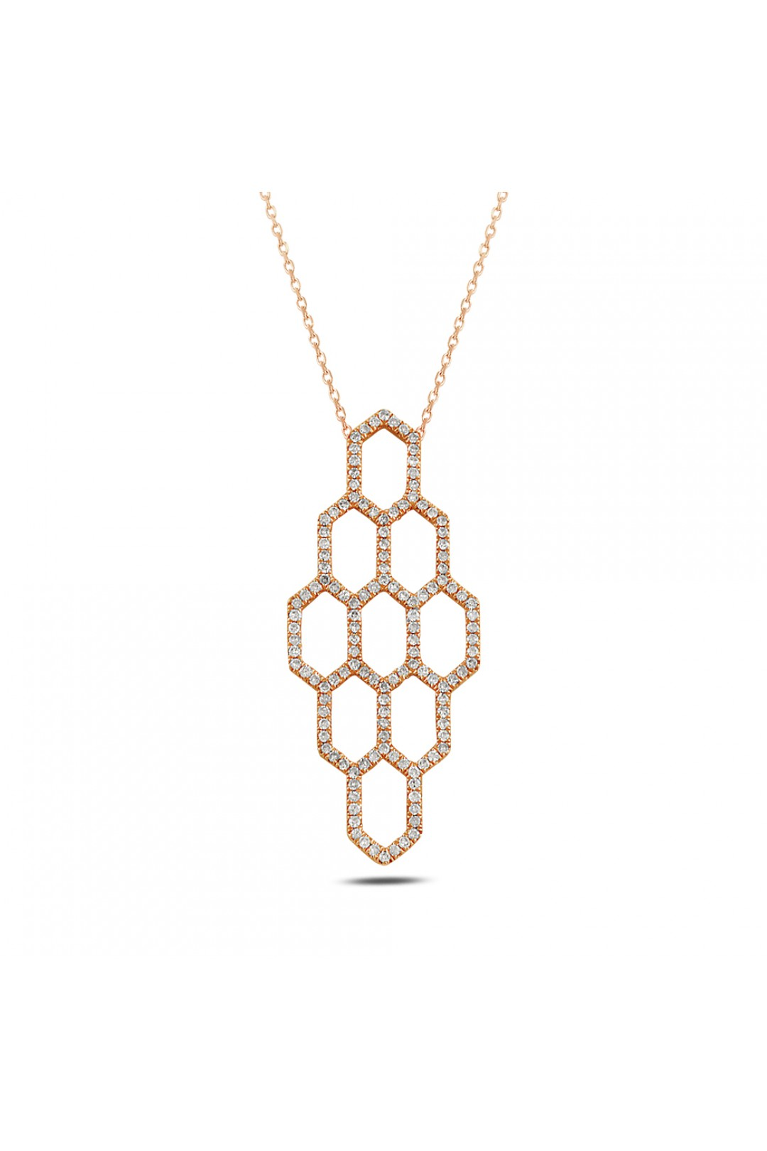 HONEYCOMB DIAMOND NECKLACE