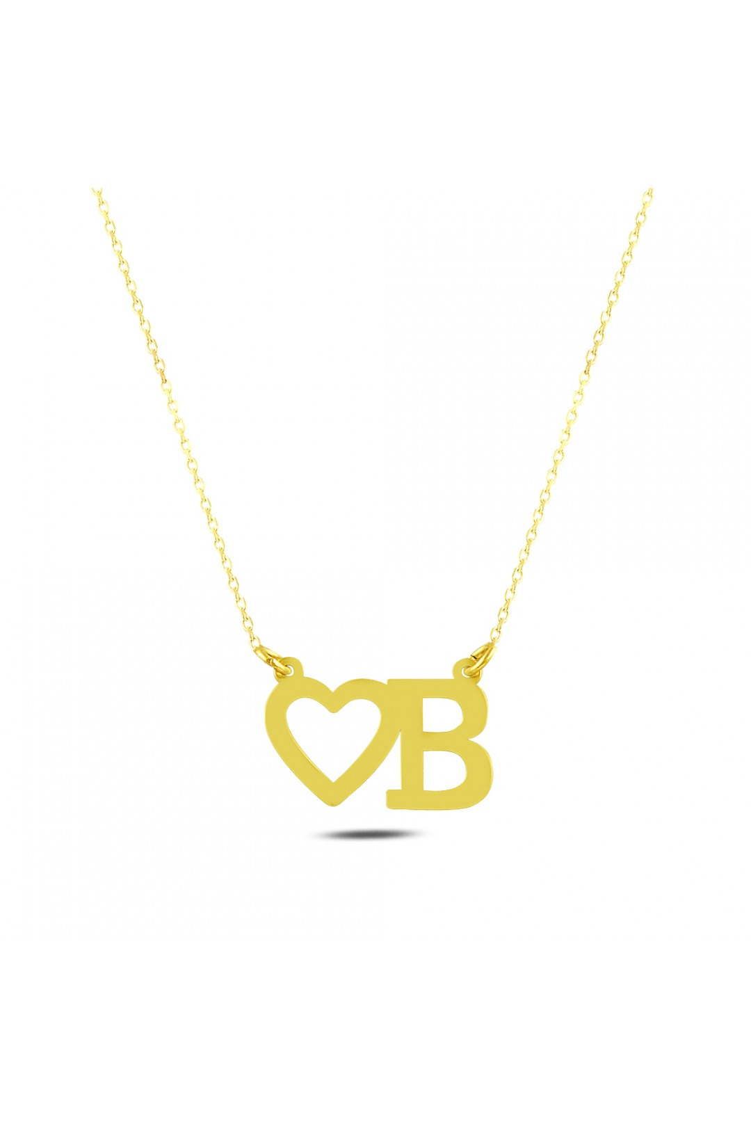 HEARTED B NECKLACE