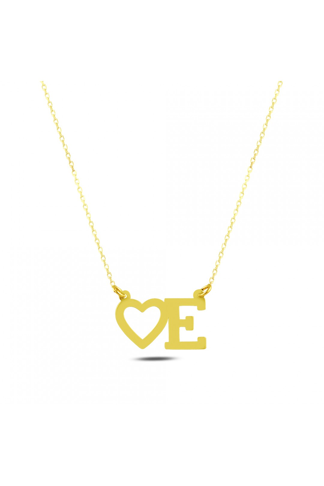 HEARTED E NECKLACE