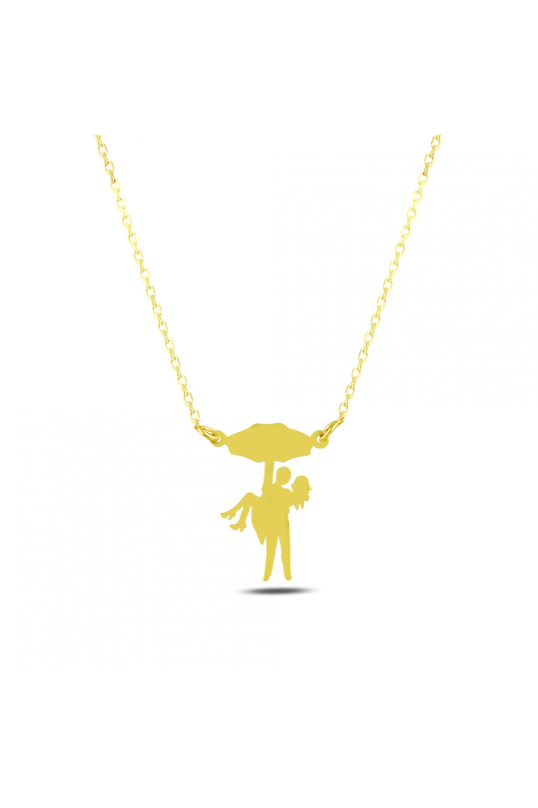 UMBRELLA AND COUPLE NECKLACE