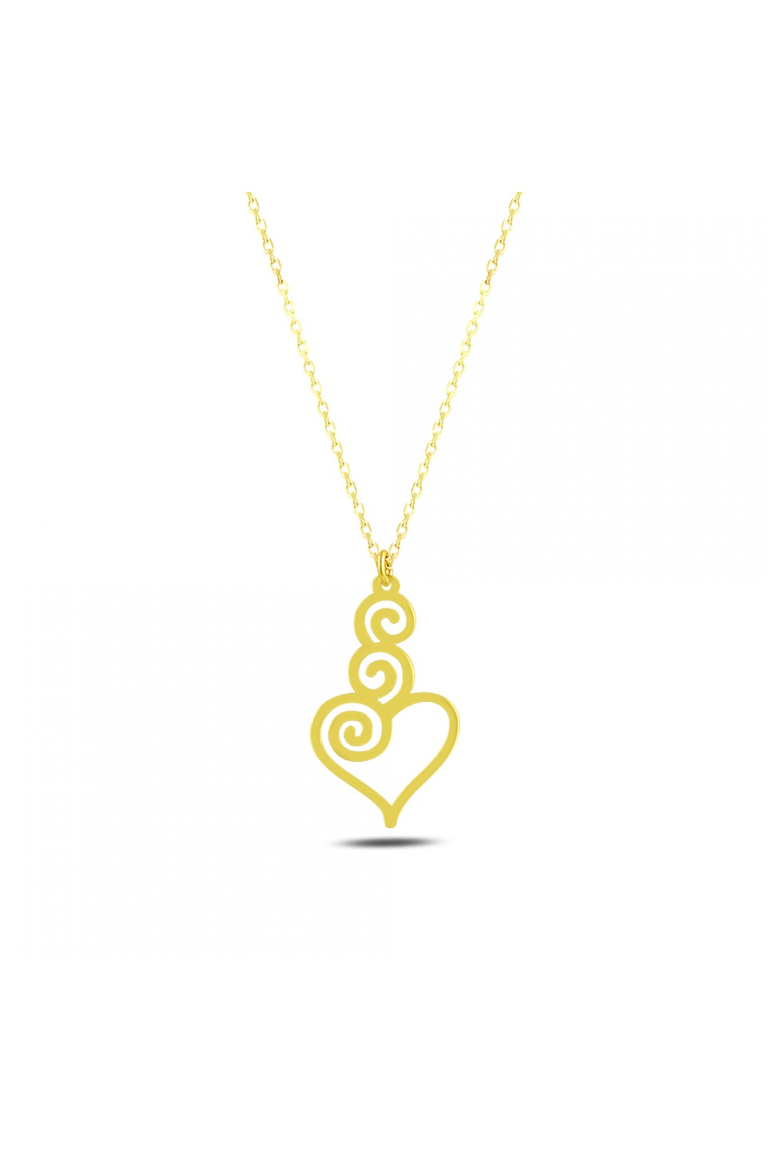 HEARTS AND CIRCLES NECKLACE