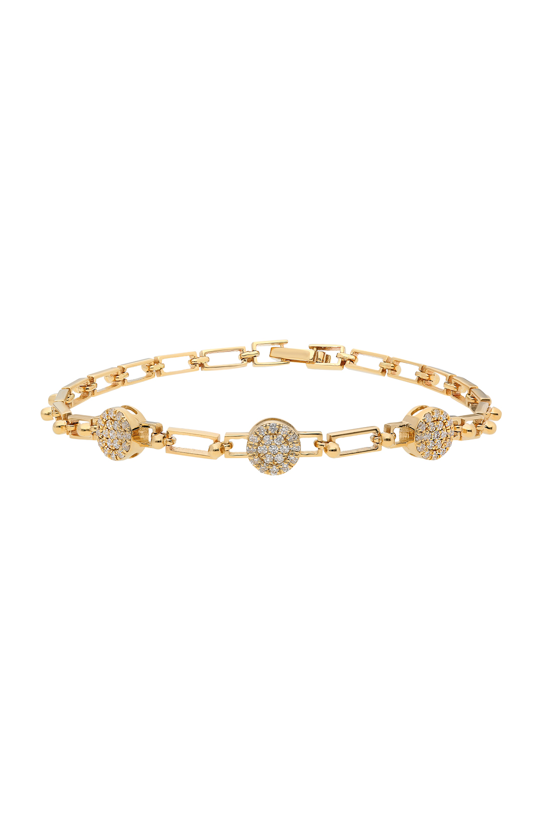 THREE CIRCLES DIAMOND BRACELET