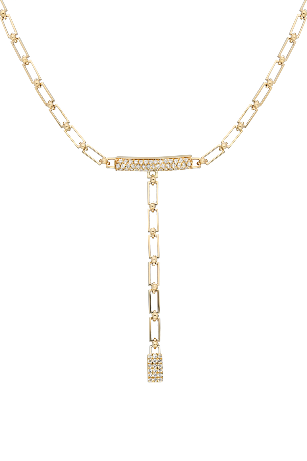 CYLINDER DIAMOND CHOKER AND NECKLACE