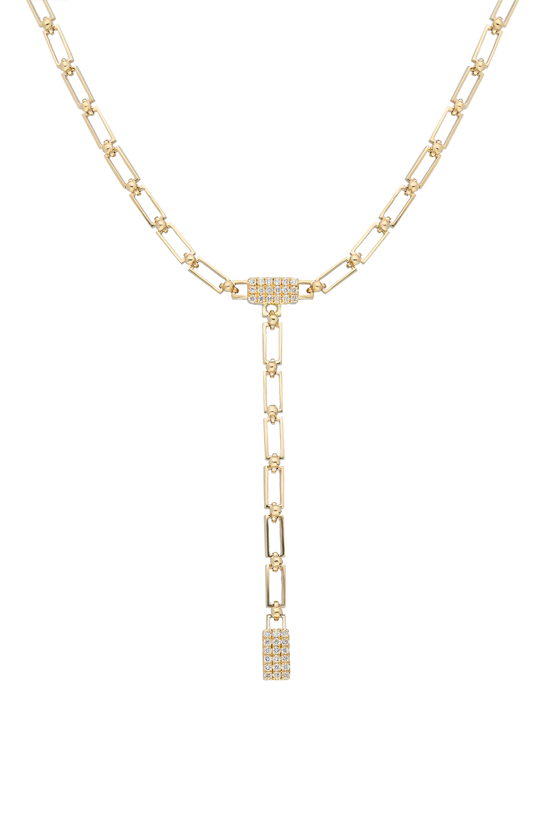 RECTANGLE DIAMOND CHOKER AND NECKLACE
