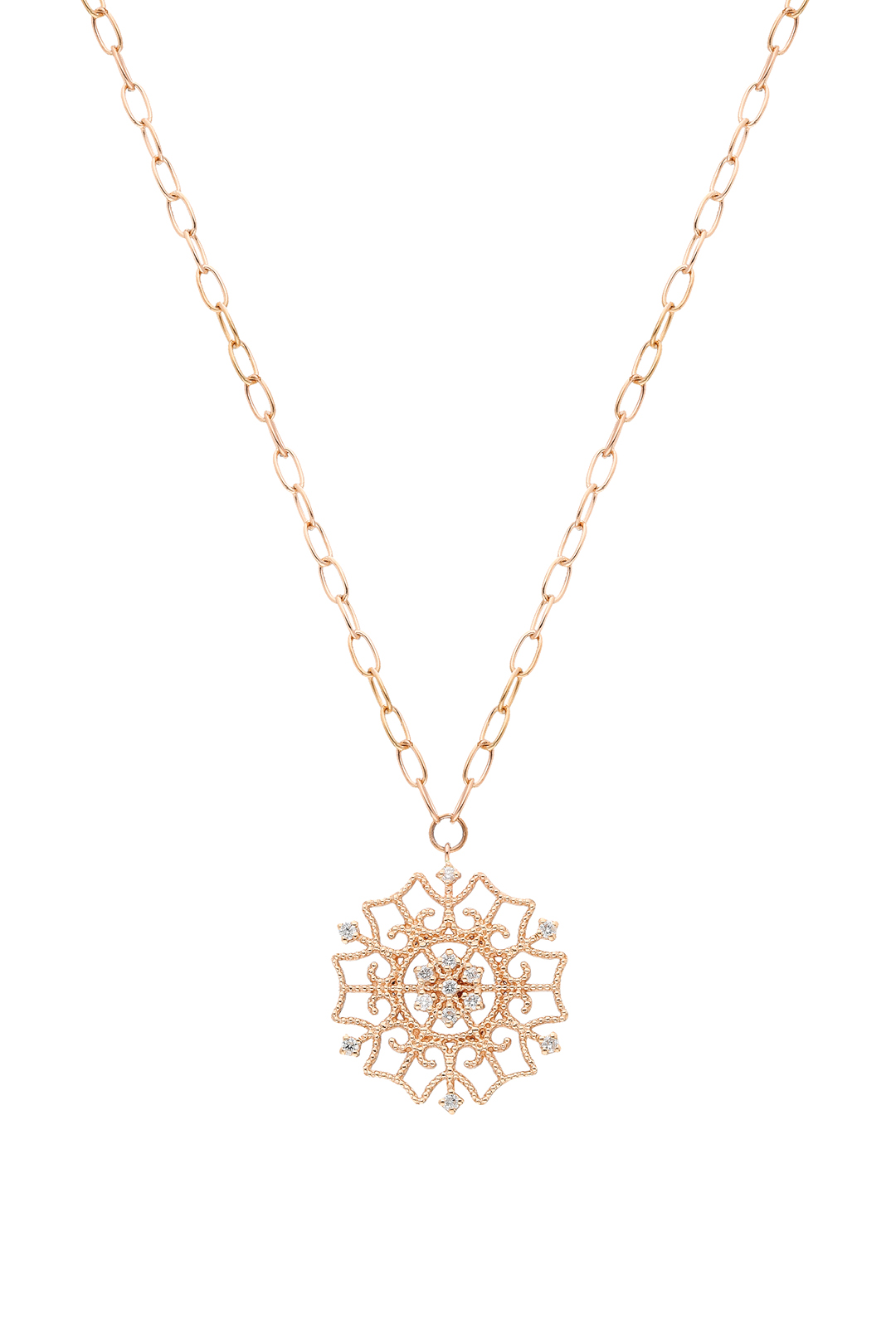 GEOMETRIC MINI BALLS AND DIAMOND NECKLACE
