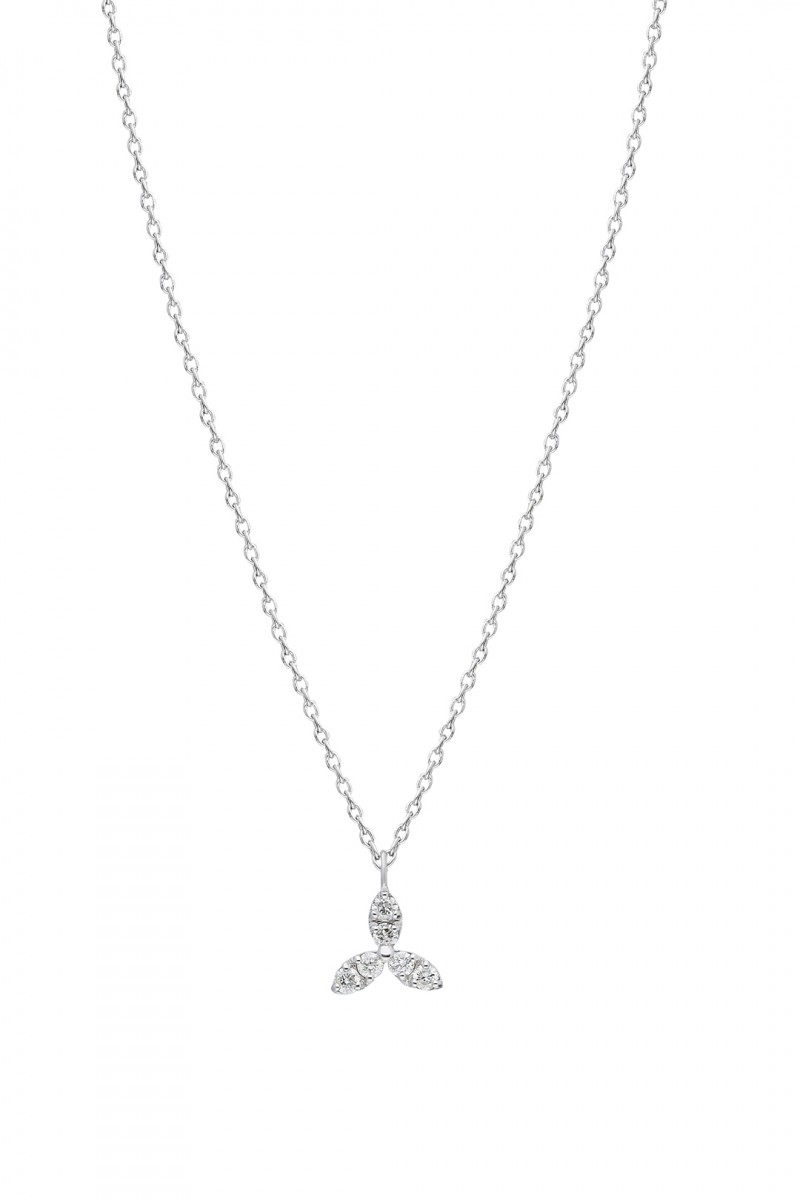 CLOVER AND DIAMOND NECKLACE