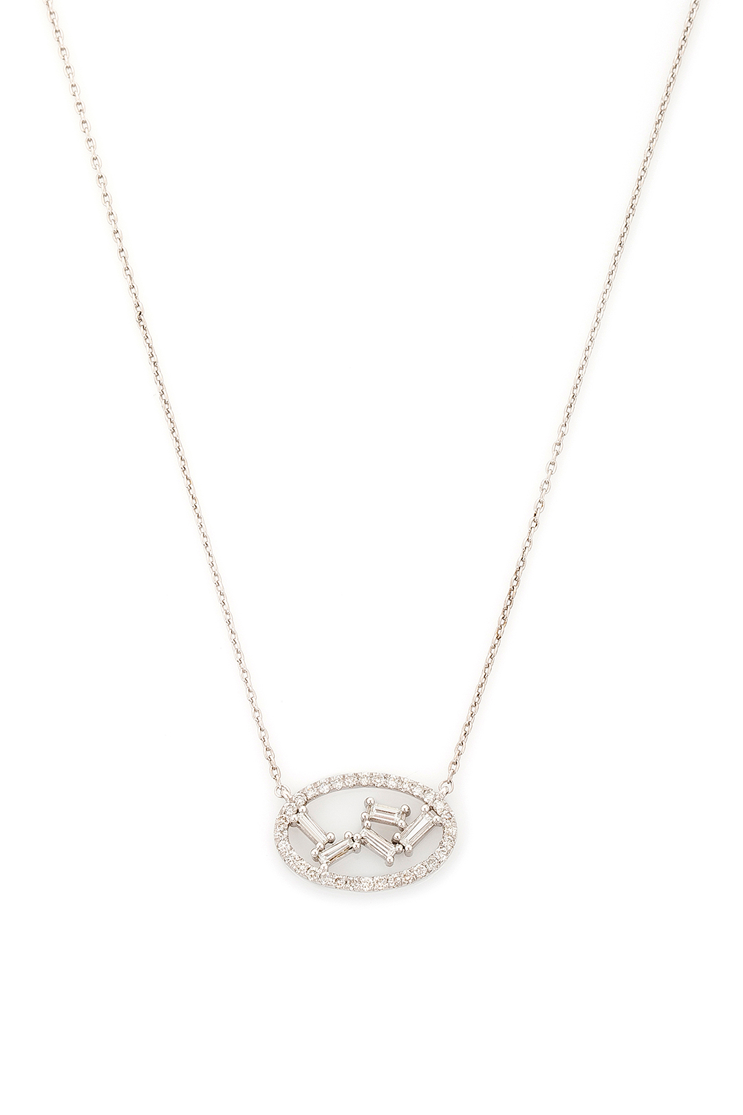 TRAPEZE DIAMOND NECKLACE