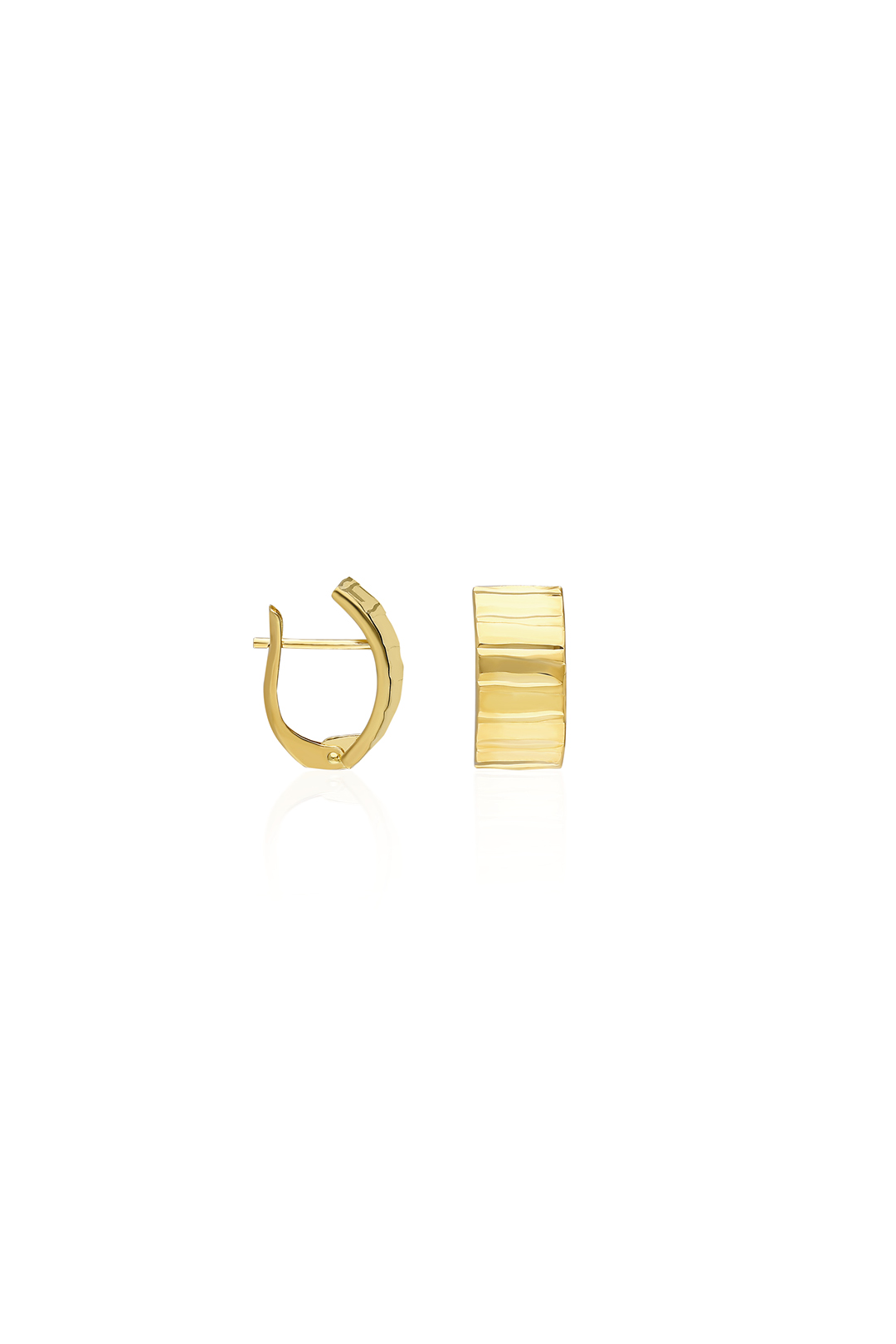 WIDE LINE RETRO RECTANGLE EARRING
