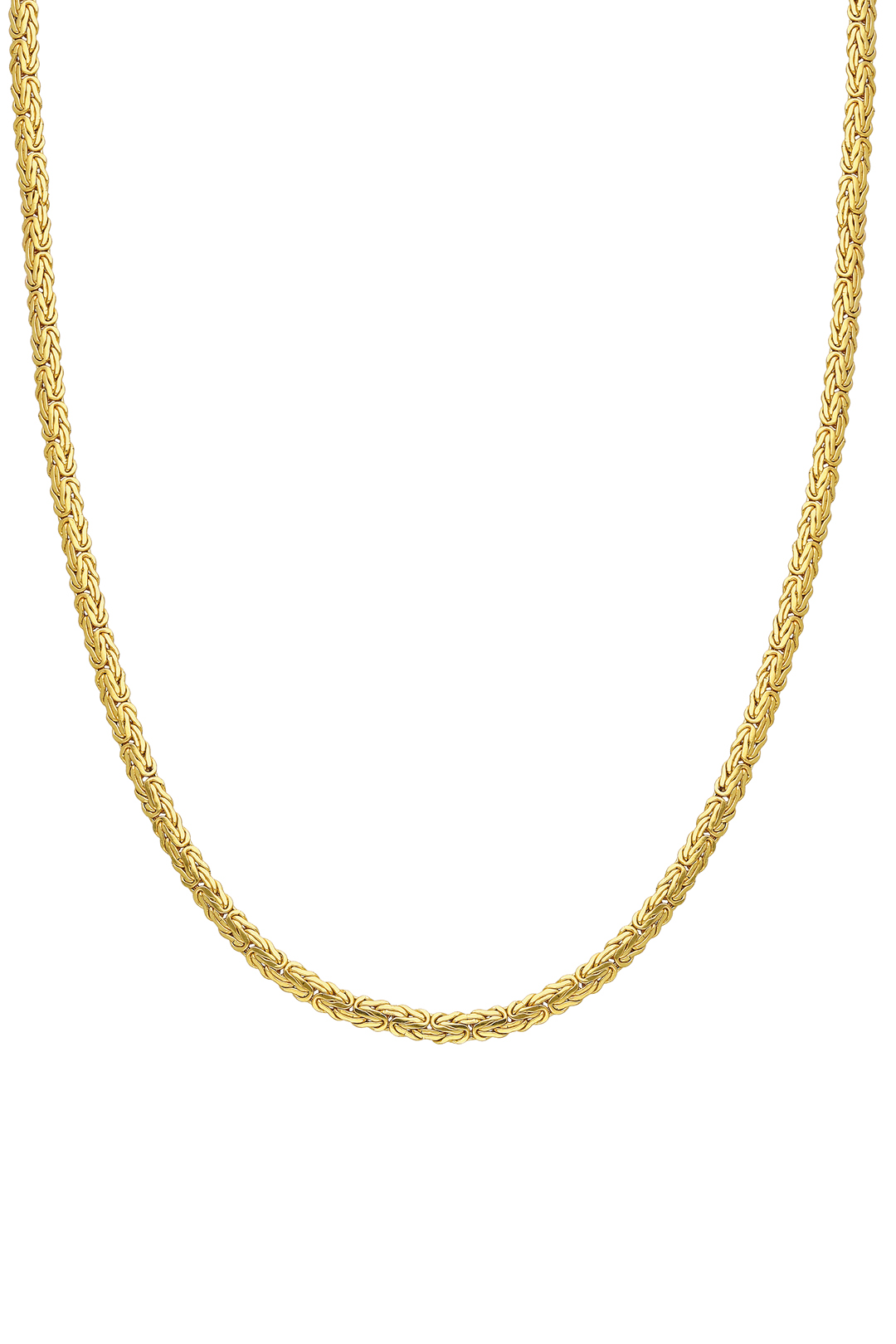FLAT SHAPED RETRO CHAIN NECKLACE