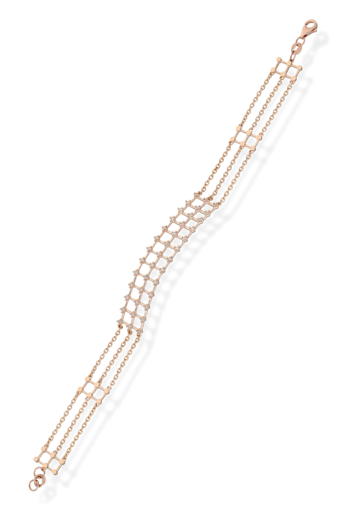 CAGES WITH WHITE DIAMONDS BRACELET