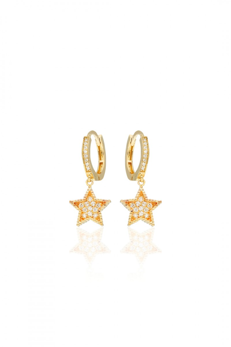 BIG STAR WHITE DIAMOND EARRING