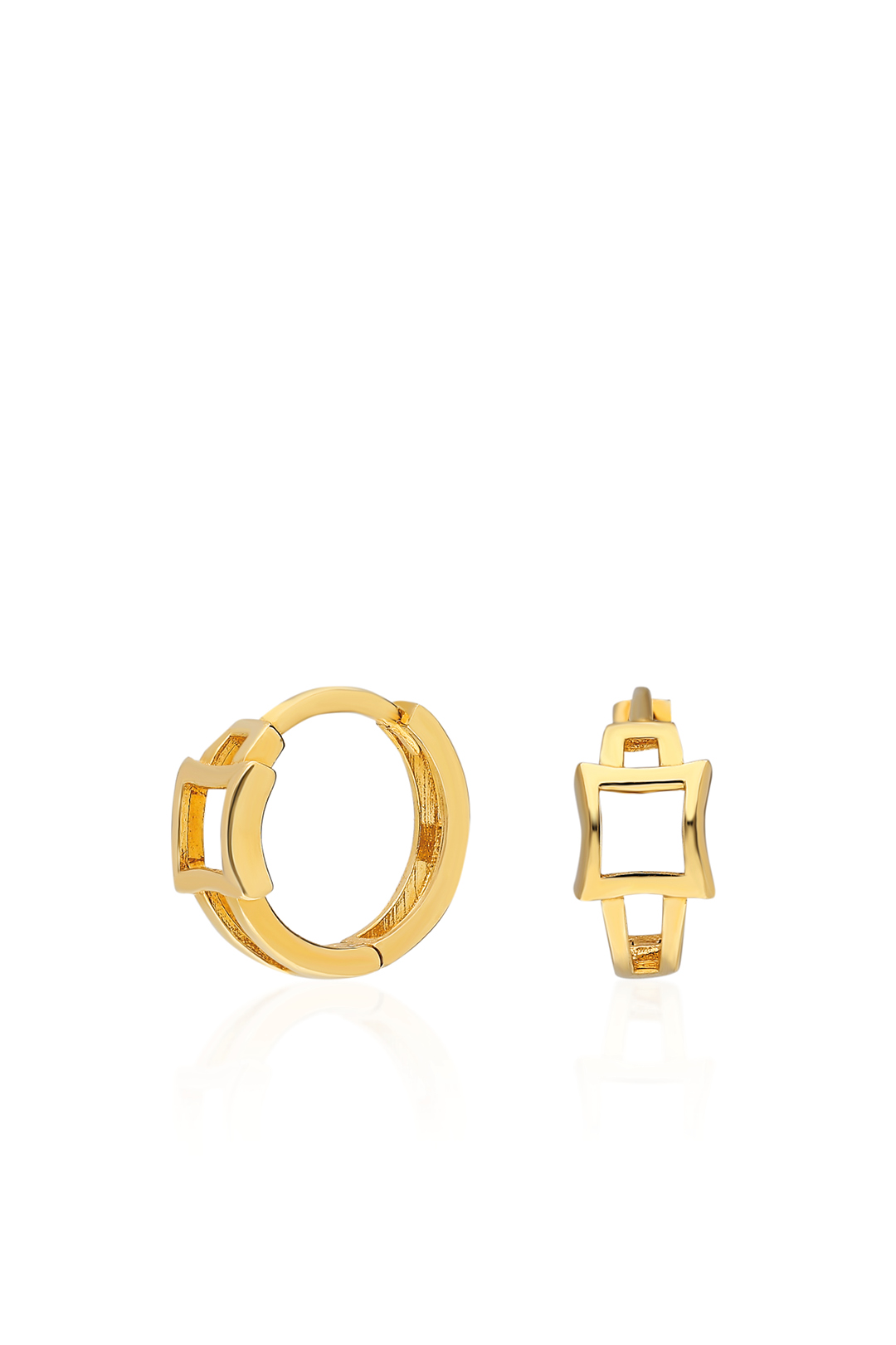 SQUARE DETAILED HOOPS