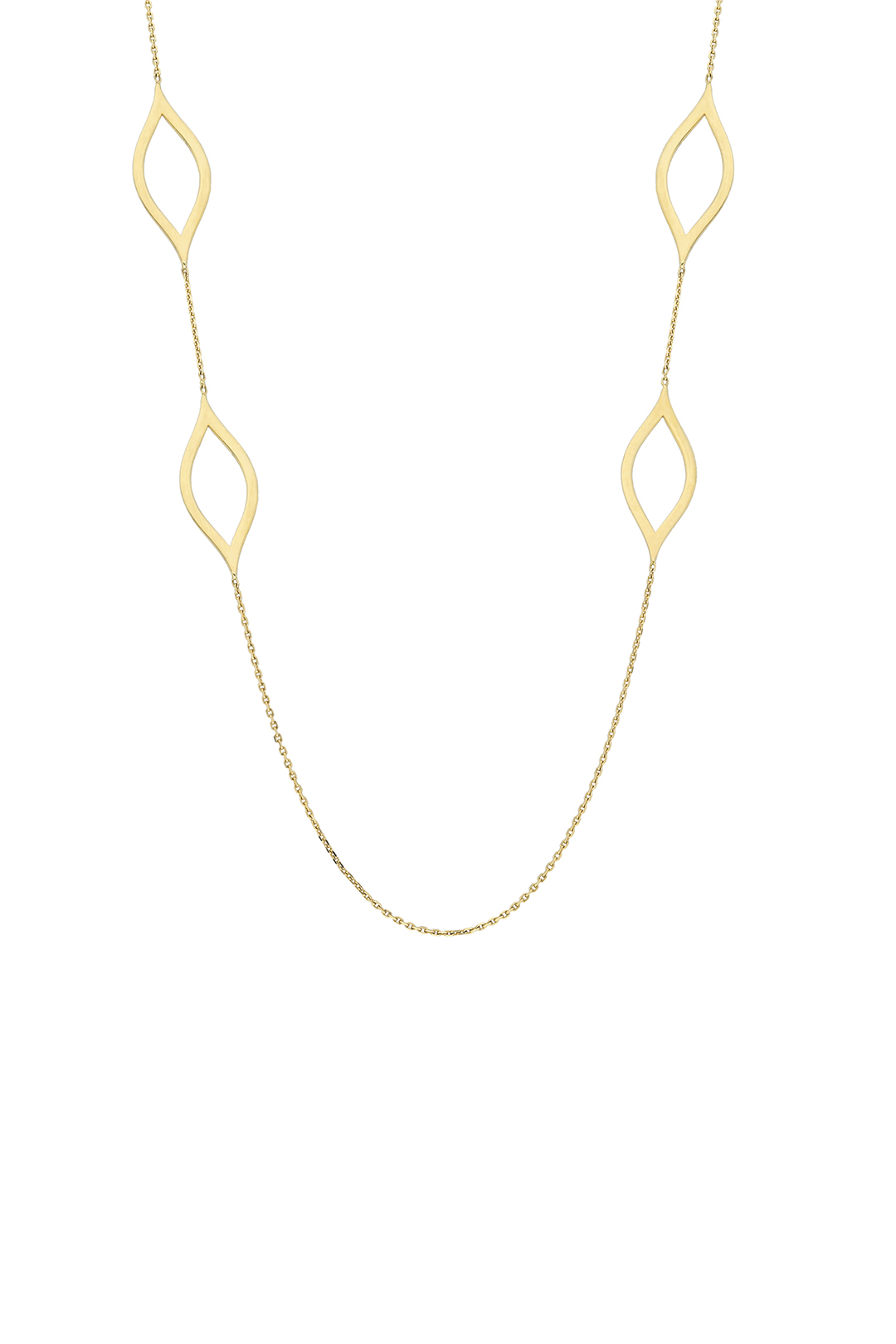 MARQUISE LONG CHAIN NECKLACE