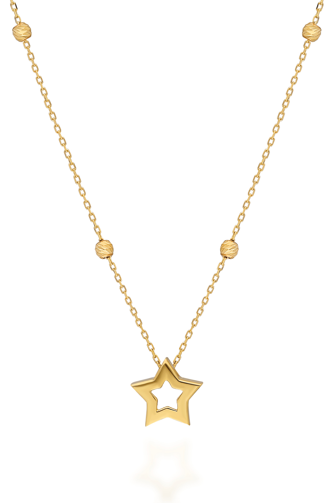 MINI BALLS AND STAR NECKLACE