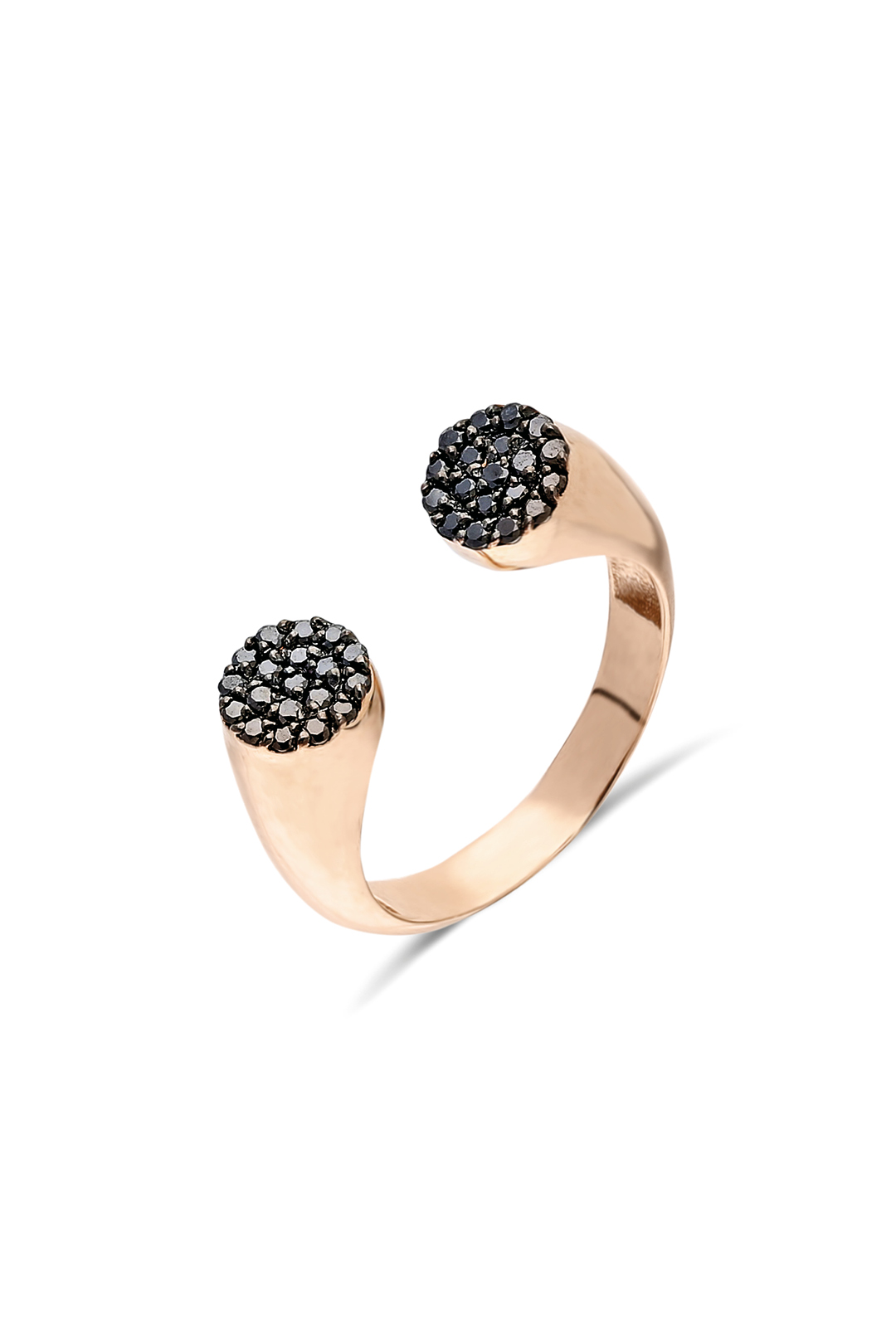 DOUBLE SIDE BLACK DIAMOND RING