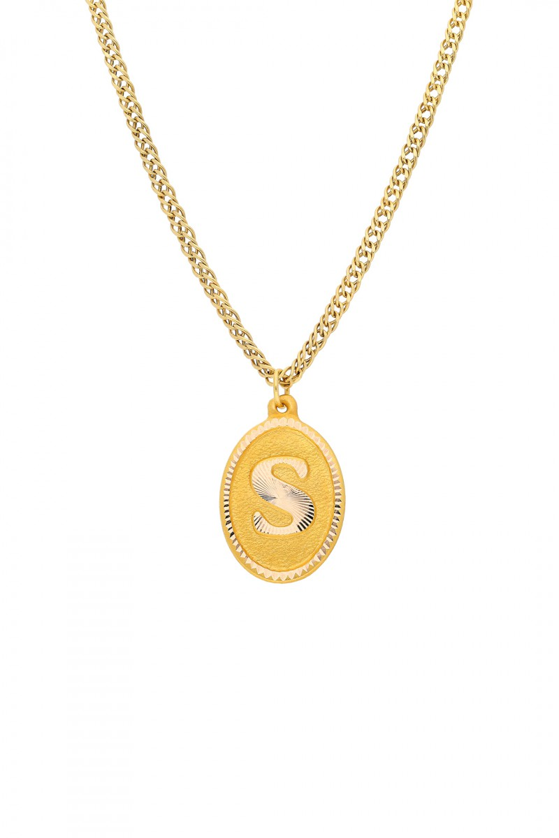 Initial Charm and Chain Necklace