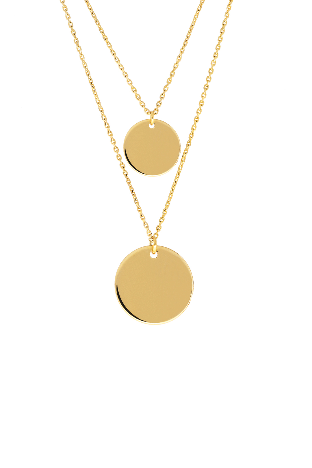 Customizable Circle Plates Necklace
