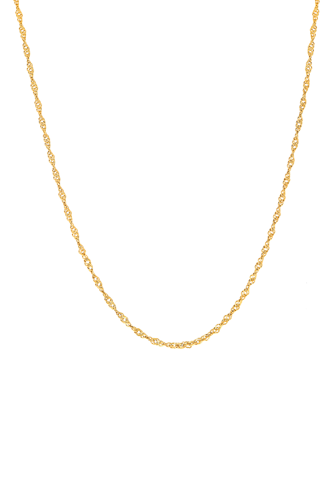 PLAIN HELIX CHAIN NECKLACE