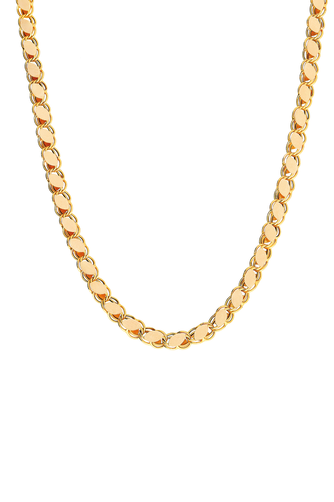 PLAIN FLAKE CHAIN NECKLACE