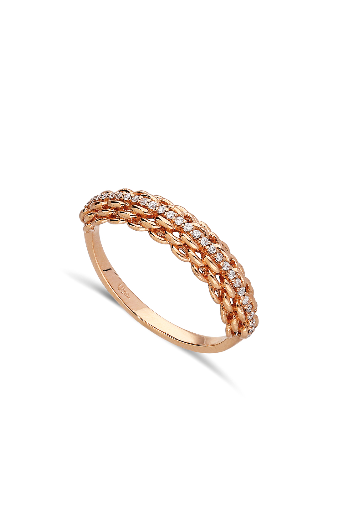 Winding Diamond Ring
