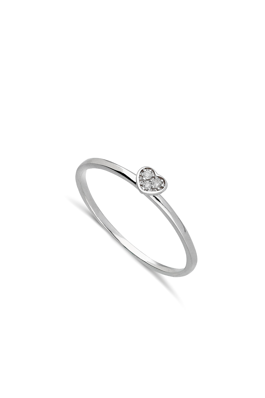 Mini Heart Diamond Ring