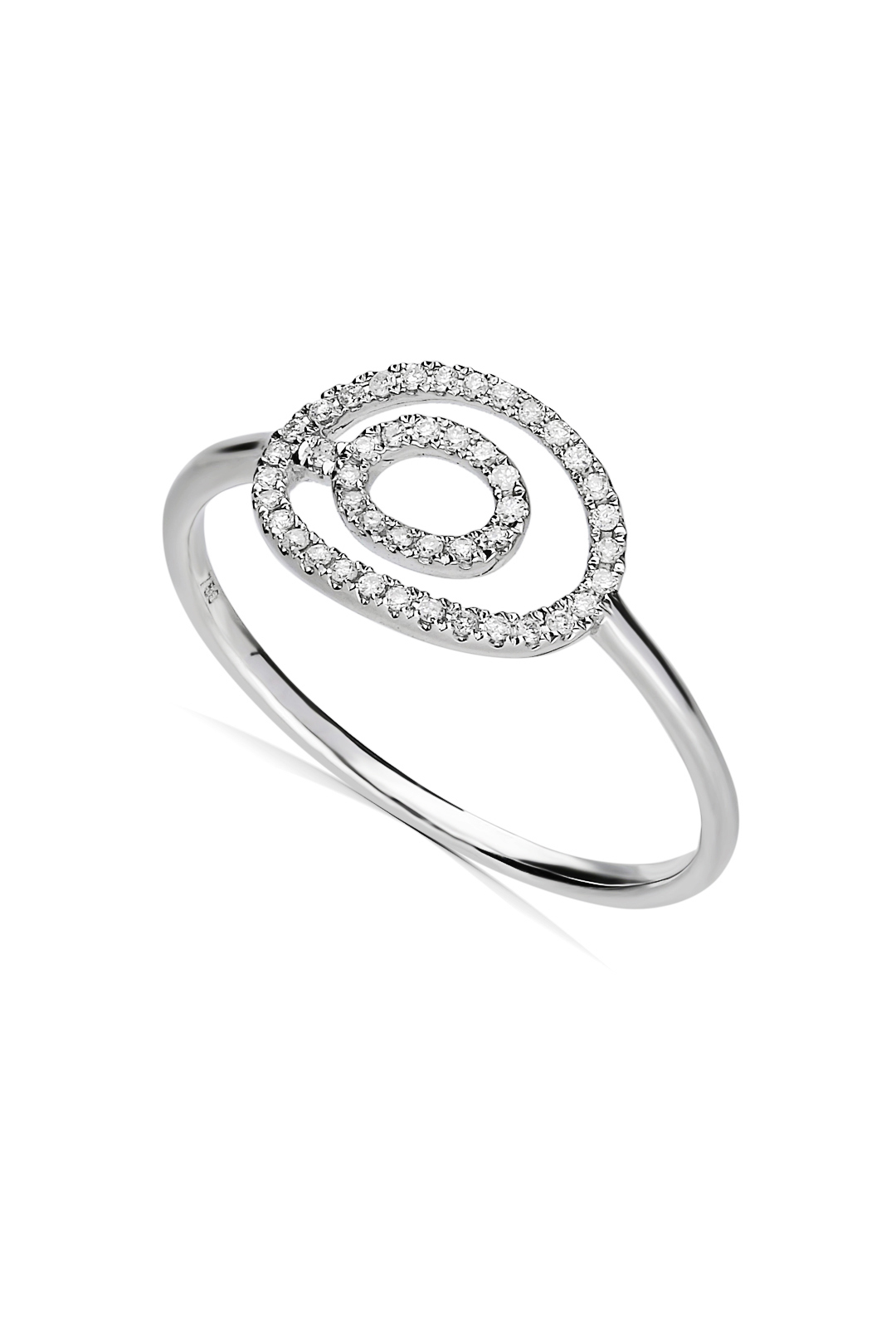 TWO CIRCLES DIAMOND RING