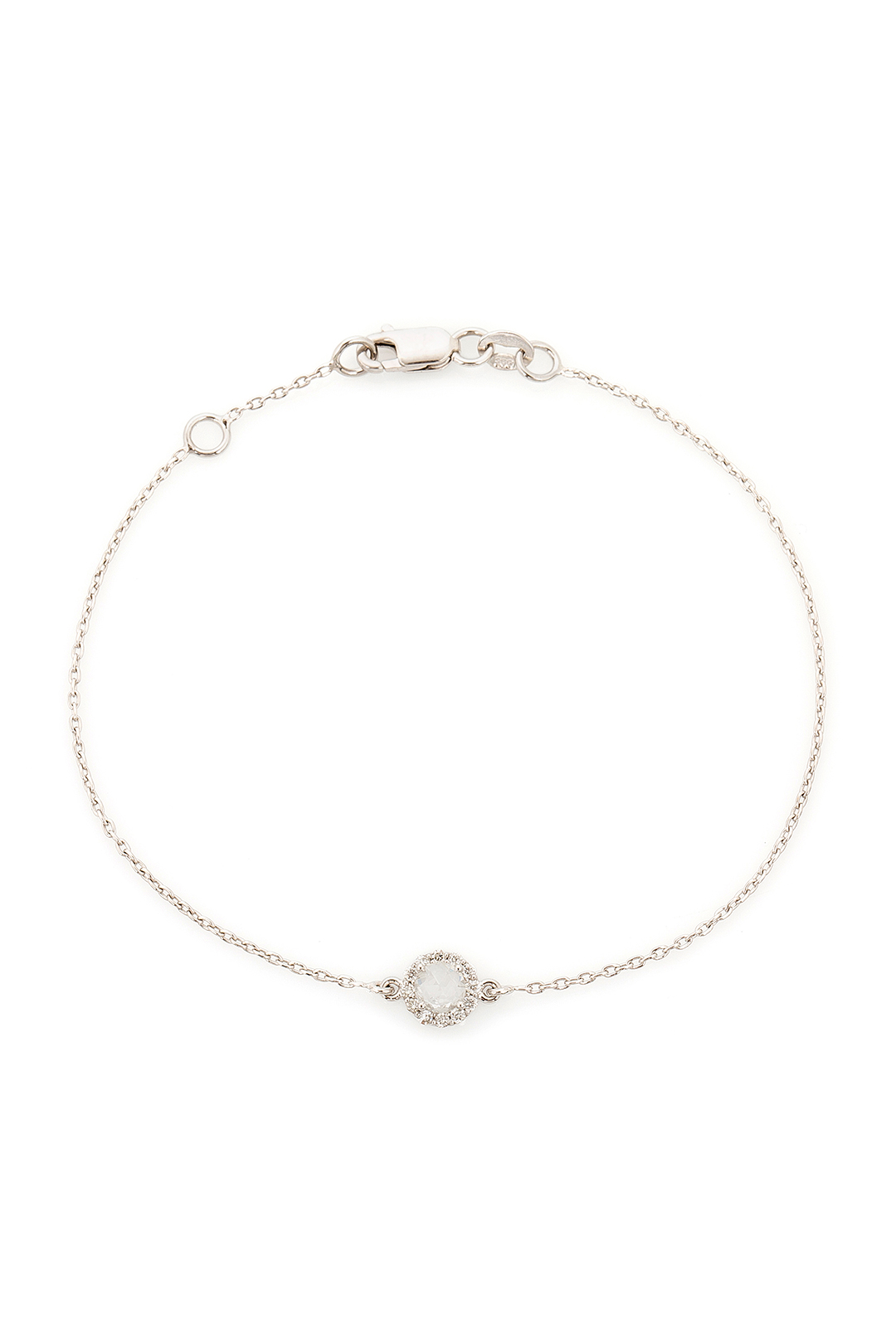 ROUND WHITE SAPPHIRE AND DIAMOND BRACELET