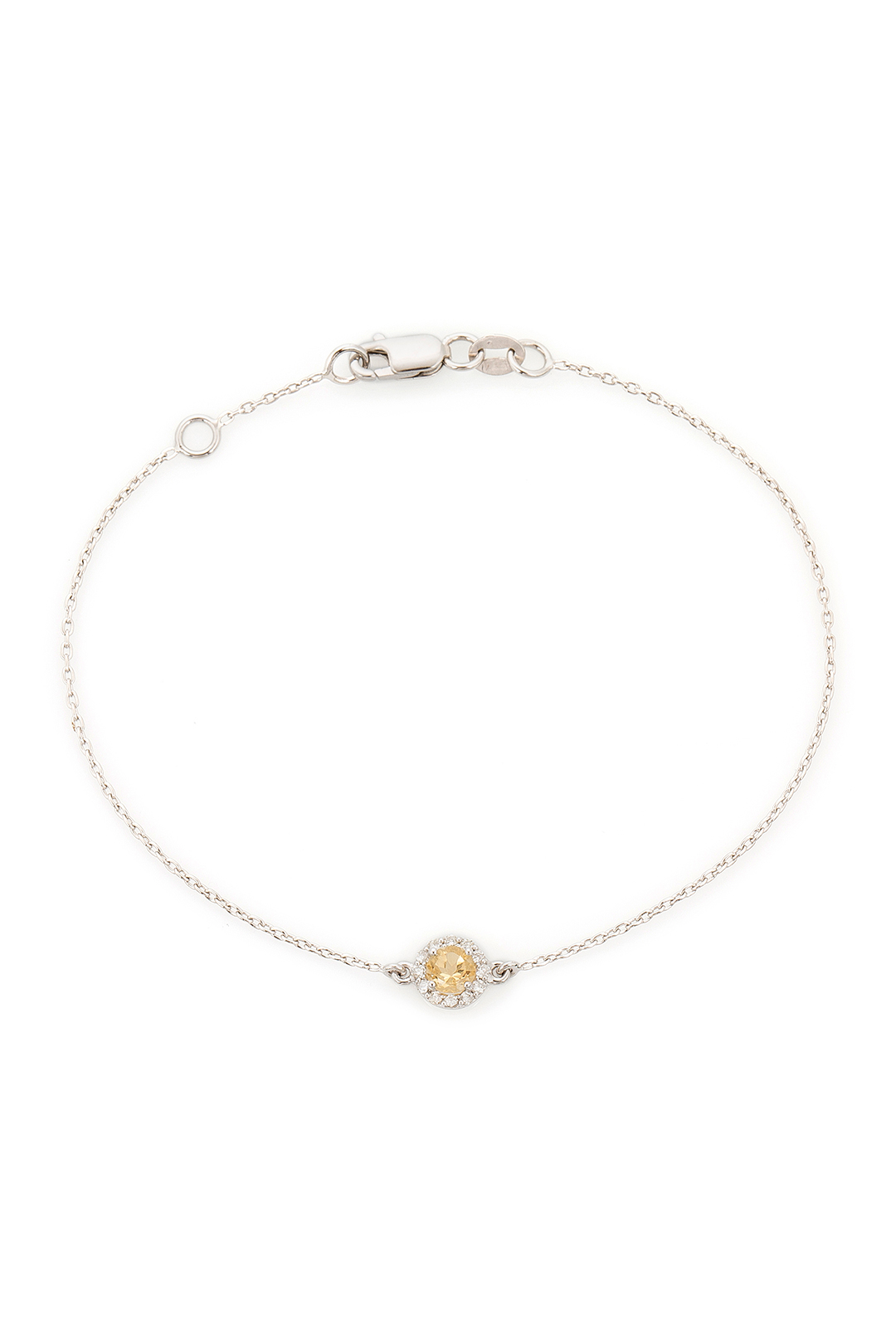 ROUND CITRIN AND DIAMOND BRACELET
