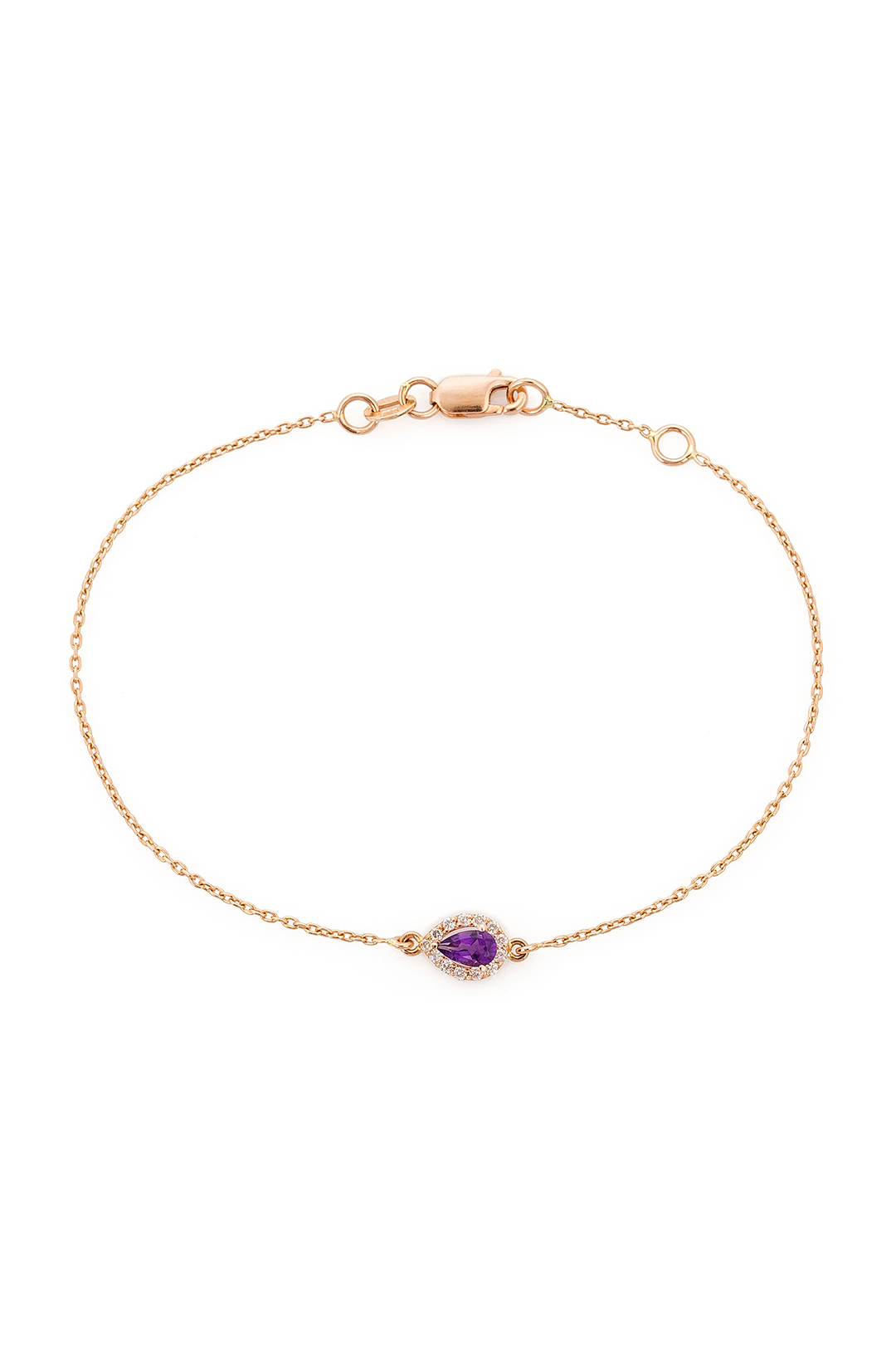 PEAR AMETHYST AND DIAMOND BRACELET