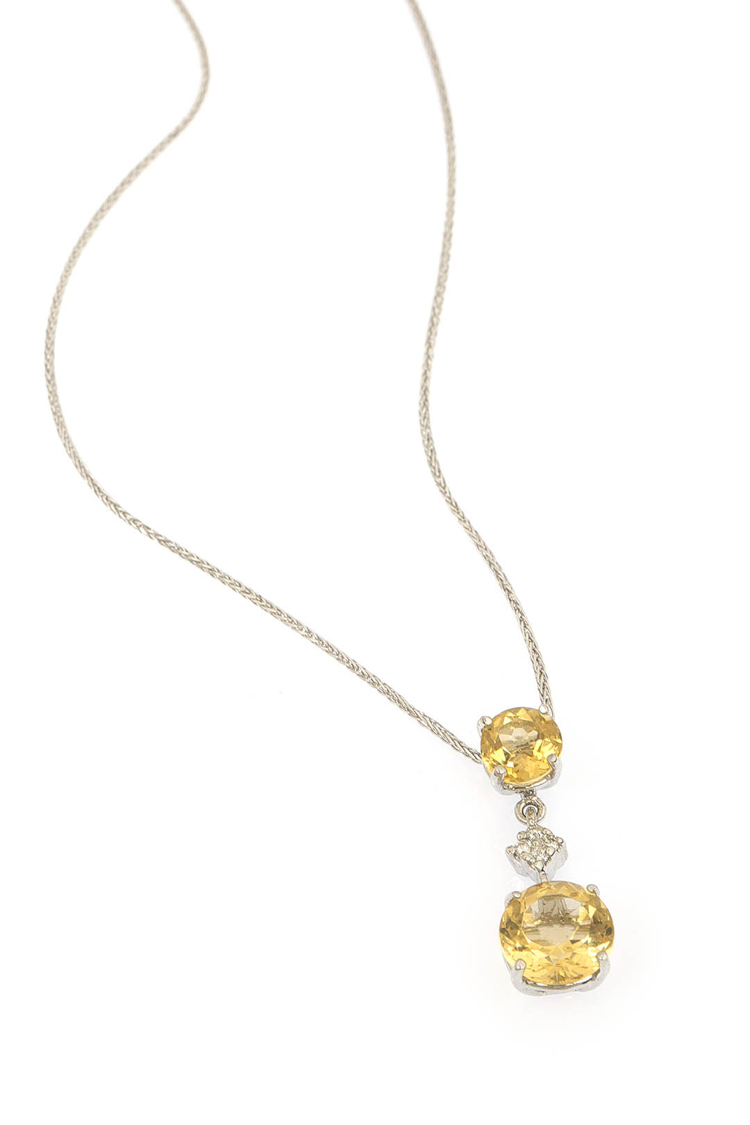 GRAND CITRIN AND DIAMOND NECKLACE