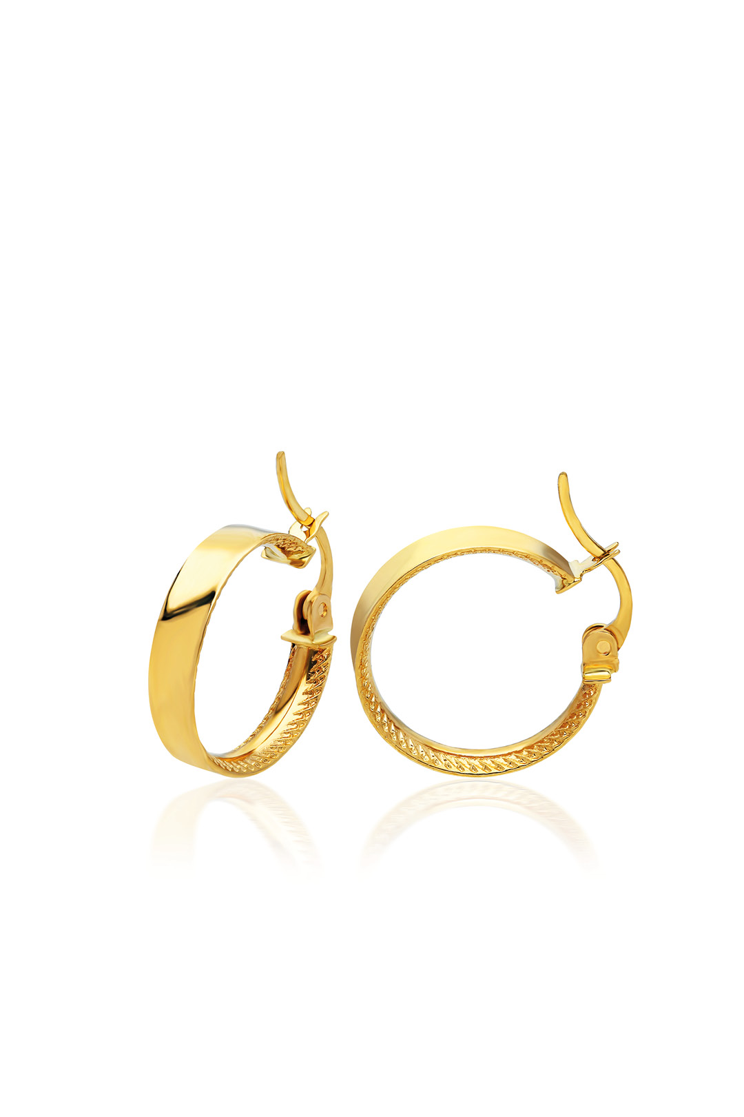 INNER MOTIVED THICK CIRCLE EARRING