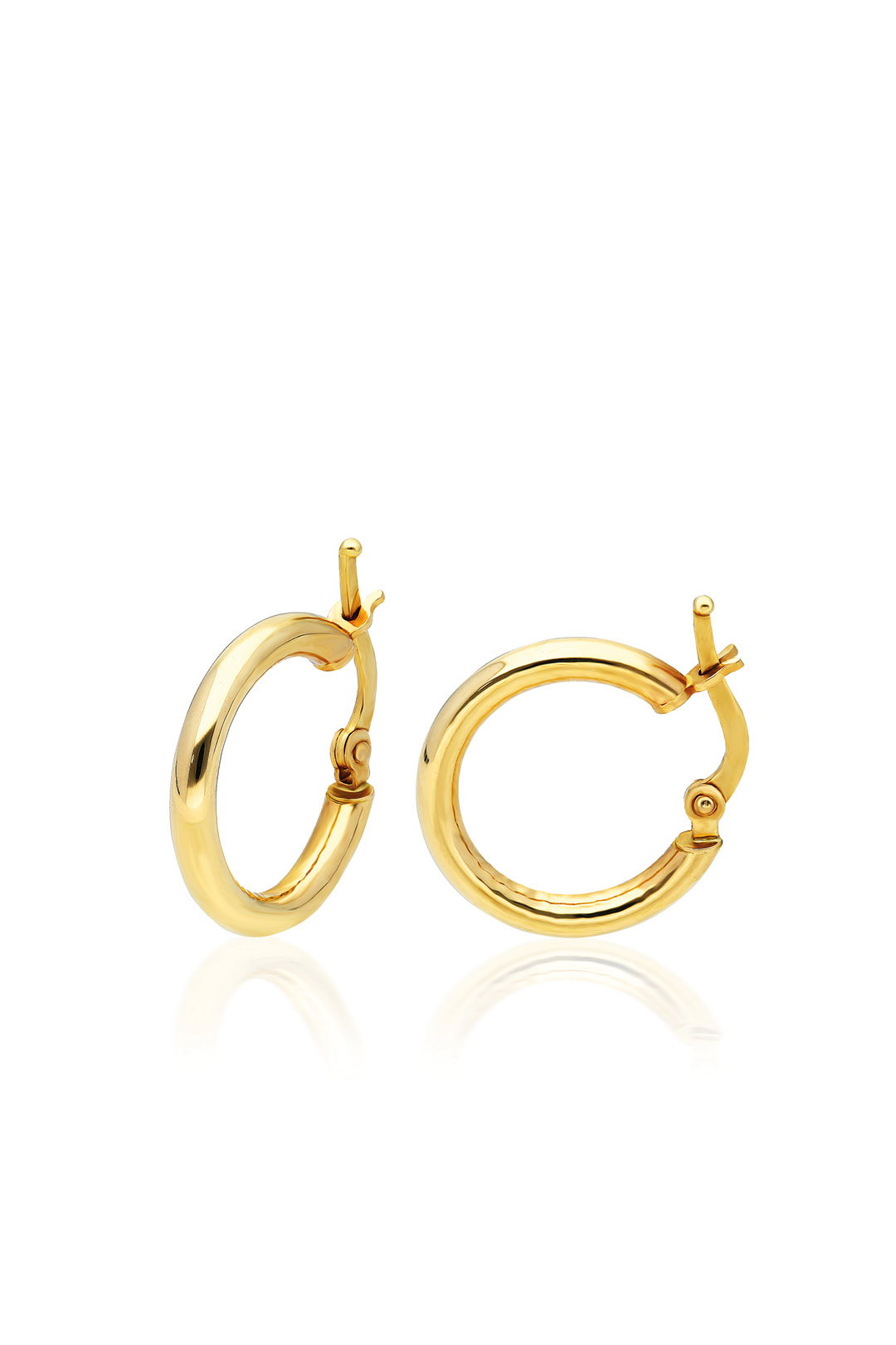 PLAIN THICK CIRCLE EARRING