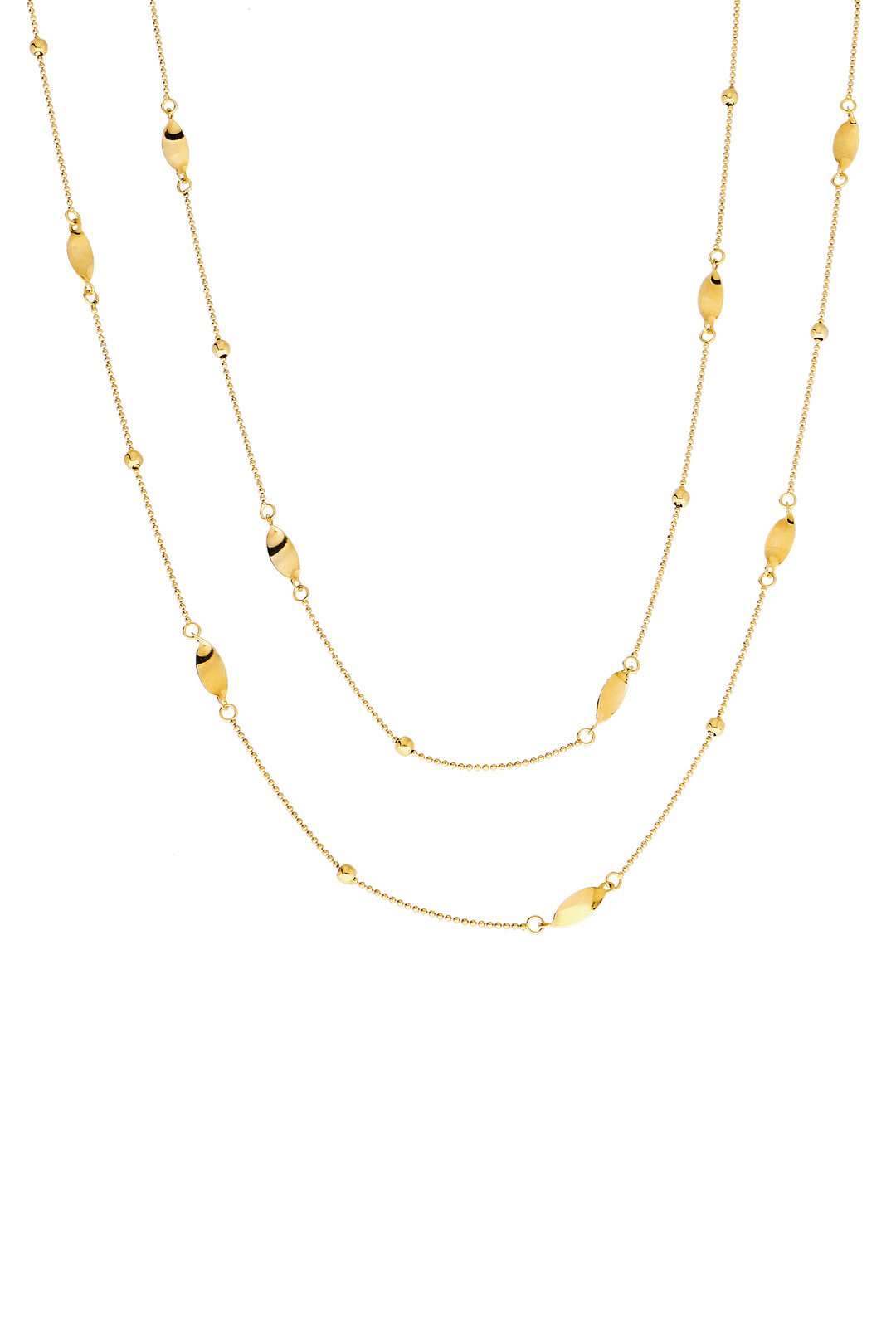 LONG DETAILED CHAIN NECKLACE